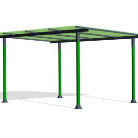 SPK209. Pergola toit incliné