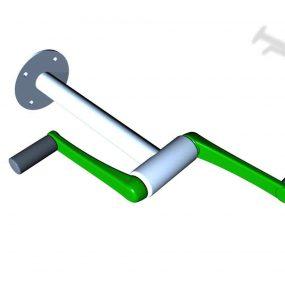 SPK09M. Manivelle axe horizontal • Fixation murale
