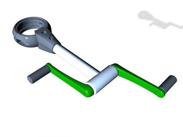 SPK09S. Manivelle axe horizontal. Sans poteau