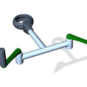 SPK10S. Manivelle axe vertical • Sans poteau