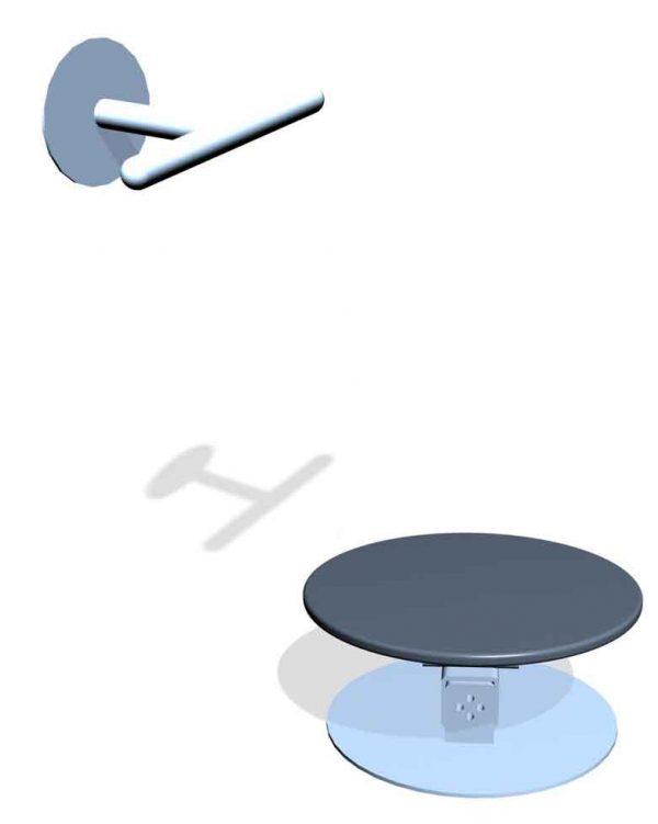 SPK14M. Socle instable Böhler & Barre d'appui • Fixation murale