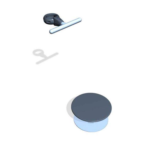 SPK14S. Socle instable Böhler & Barre d'appui • Sans poteau