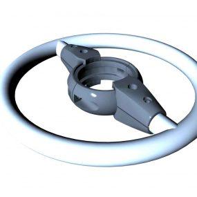 SPK31S. Barre d'appui circulaire • Sans poteau