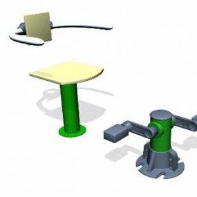 SPK115S. Pédalier & Assise avec accoudoirs • Sans poteau