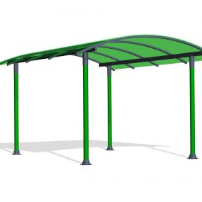 SPK210. Pergola toit courbé