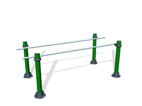 SPK33. Barres parallèles - Poteaux 1200