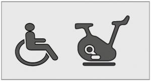 Pictogramme PMR Vélo